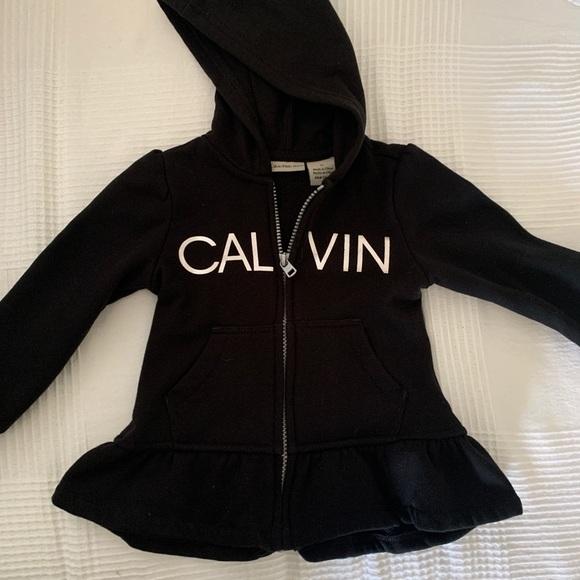 Calvin Klein kids zip up sweater